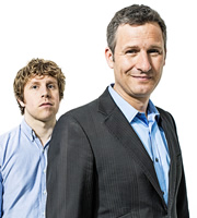 The Last Leg. Image shows from L to R: Josh Widdicombe, Adam Hills. Copyright: Open Mike Productions.