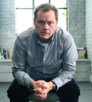 Lead Balloon. Rick Spleen (Jack Dee). Image credit: Open Mike Productions.