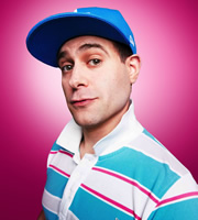 Lee Nelson's Well Good Show. Lee Nelson (Simon Brodkin). Image credit: Avalon Television.