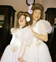Little Britain. Image shows from L to R: Matt Lucas, David Walliams. Image credit: British Broadcasting Corporation.