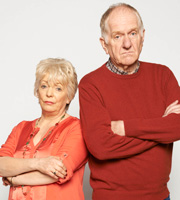 Love And Marriage. Image shows from L to R: Pauline Paradise (Alison Steadman), Ken Paradise (Duncan Preston). Image credit: Tiger Aspect Productions.
