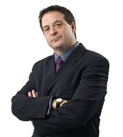 Mark Thomas - The Manifesto. Mark Thomas. Image credit: British Broadcasting Corporation.