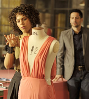 Material Girl. Image shows from L to R: Ali Redcliffe (Lenora Crichlow), Marco Keriliak (Michael Landes). Image credit: Carnival Films.