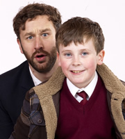 Moone Boy. Image shows from L to R: Sean Murphy (Chris O'Dowd), Martin (David Rawle). Image credit: Baby Cow Productions.
