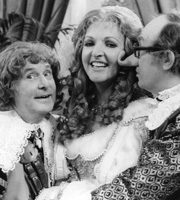 Morecambe And Wise In Pieces. Image shows from L to R: Ernie Wise, Penelope Keith, Eric Morecambe. Image credit: British Broadcasting Corporation.
