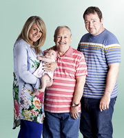 Mount Pleasant. Image shows from L to R: Lisa (Sally Lindsay), Barry (Bobby Ball), Dan (Daniel Ryan). Image credit: Tiger Aspect Productions.
