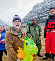 Mountain Goats. Image shows from L to R: Bernie (Kathryn Howden), Jimmy Miller (Jimmy Chisholm), Bill (David Ireland), Conor (Kevin Mains). Image credit: British Broadcasting Corporation.