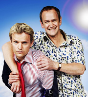 Mutual Friends. Image shows from L to R: Martin Grantham (Marc Warren), Patrick Turner (Alexander Armstrong). Image credit: Hat Trick Productions.