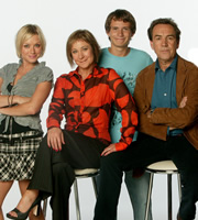 My Family. Image shows from L to R: Janey Harper (Daniela Denby-Ashe), Susan Harper (Zoë Wanamaker), Michael Harper (Gabriel Thomson), Ben Harper (Robert Lindsay). Copyright: DLT Entertainment Ltd. / Rude Boy Productions.