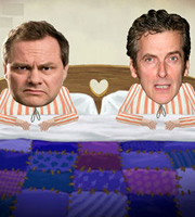 The News At Bedtime. Image shows from L to R: John Tweedledum (Jack Dee), Jim Tweedledee (Peter Capaldi). Image credit: British Broadcasting Corporation.