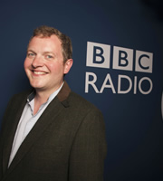 The News Quiz. Miles Jupp. Image credit: British Broadcasting Corporation.