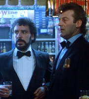 No Surrender. Image shows from L to R: Mike (Michael Angelis), Bernard (Bernard Hill). Image credit: No Surrender Films Ltd.