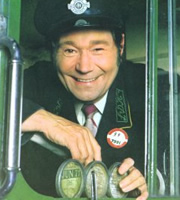 On The Buses. Stan Butler (Reg Varney). Image credit: London Weekend Television.