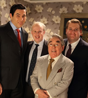 The One.... Image shows from L to R: David Walliams, Matt Lucas, Ronnie Corbett, James Corden. Copyright: BBC / Little Britain Productions.