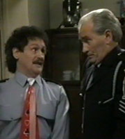 Plaza Patrol. Image shows from L to R: Trevor Purvis (Bobby Ball), Bernard Cooney (Tommy Cannon). Image credit: Yorkshire Television.