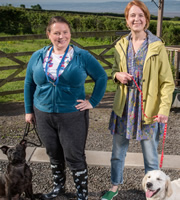 Puppy Love. Image shows from L to R: Nana V (Joanna Scanlan), Naomi (Vicki Pepperdine). Image credit: British Broadcasting Corporation.