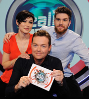 Reality Bites. Image shows from L to R: Emma Willis, Stephen Mulhern, Joel Dommett. Image credit: Hungry Bear Media.