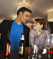 Reunited. Image shows from L to R: Martin (Joseph Millson), Sophie (Jemima Rooper). Copyright: BBC.