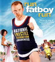 Run, Fatboy, Run. Image shows from L to R: Libby (Thandie Newton), Dennis Doyle (Simon Pegg). Image credit: Material Entertainment.