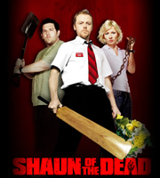 Shaun Of The Dead. Image shows from L to R: Ed (Nick Frost), Shaun (Simon Pegg), Liz (Kate Ashfield). Image credit: Working Title Films.