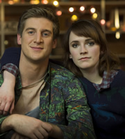 Siblings. Image shows from L to R: Dan (Tom Stourton), Hannah (Charlotte Ritchie). Image credit: Bwark Productions.