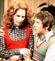 Some Mothers Do 'Ave 'Em. Image shows from L to R: Betty Spencer (Michele Dotrice), Frank Spencer (Michael Crawford). Image credit: British Broadcasting Corporation.