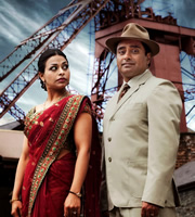 The Indian Doctor. Image shows from L to R: Kamini Sharma (Ayesha Dharker), Dr. Prem Sharma (Sanjeev Bhaskar). Image credit: Rondo.