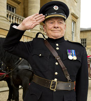 The Royal Bodyguard. Captain Guy Hubble (David Jason). Image credit: Hat Trick Productions.