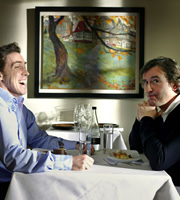 The Trip. Image shows from L to R: Steve (Steve Coogan), Rob (Rob Brydon). Image credit: Baby Cow Productions.