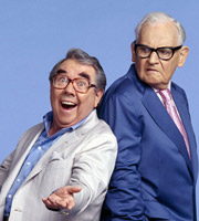 The Two Ronnies Sketchbook. Image shows from L to R: Ronnie Corbett, Ronnie Barker. Image credit: British Broadcasting Corporation.
