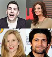 Image shows from L to R: Blake Harrison, Morgana Robinson, Sally Phillips, Kayvan Novak.