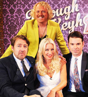 Through The Keyhole. Image shows from L to R: Jonathan Ross OBE, Keith Lemon, Denise Van Outen, Dave Berry. Image credit: Talkback.