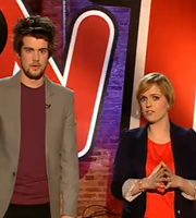 TNT Show. Image shows from L to R: Jack Whitehall, Holly Walsh. Image credit: Objective Productions.