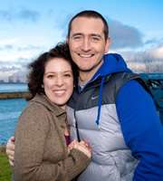 Two Pints Of Lager And A Packet Of Crisps. Image shows from L to R: Donna Henshaw (Natalie Casey), Gary 'Gaz' Wilkinson (Will Mellor). Copyright: BBC.