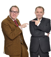 Image shows from L to R: Vic Reeves, Bob Mortimer. Copyright: Alan Peebles / BBC.