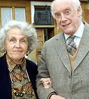 Waiting For God. Image shows from L to R: Diana Trent (Stephanie Cole), Tom Ballard (Graham Crowden). Image credit: British Broadcasting Corporation.