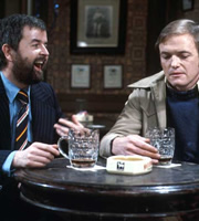 Whatever Happened To The Likely Lads?. Image shows from L to R: Bob Ferris (Rodney Bewes), Terry Collier (James Bolam). Image credit: British Broadcasting Corporation.