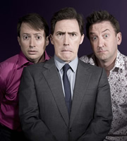 Would I Lie To You?. Image shows from L to R: David Mitchell, Rob Brydon, Lee Mack. Image credit: Zeppotron.