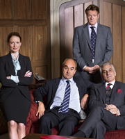 Yes, Prime Minister. Image shows from L to R: Claire Sutton (Zoe Telford), Jim Hacker (David Haig), Bernard Woolley (Chris Larkin), Sir Humphrey Appleby (Henry Goodman). Copyright: BBC.