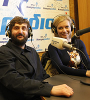 24 Hours To Go Broke. Image shows from L to R: Joe Wilkinson, Rachel Riley. Copyright: Renegade Pictures.