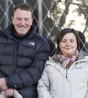 24 Hours To Go Broke. Image shows from L to R: Phil Tufnell, Susan Calman. Copyright: Renegade Pictures.