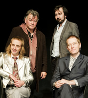 The Alternative Comedy Experience. Image shows from L to R: Paul Foot, Stewart Lee, Stephen Carlin, Alun Cochrane. Copyright: Comedy Central.