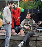 Bad Education. Image shows from L to R: Alfie (Jack Whitehall), Fraser (Mathew Horne). Copyright: Tiger Aspect Productions.