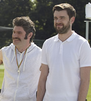 Bad Education. Image shows from L to R: Preet (Harry Peacock), Alfie (Jack Whitehall). Copyright: Tiger Aspect Productions.