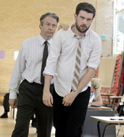 Bad Education. Image shows from L to R: Maurice Hewston (Roger Allam), Alfie (Jack Whitehall). Copyright: Tiger Aspect Productions.