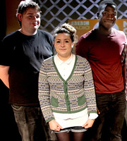 BBC New Comedy Award. Image shows from L to R: Matt Rees, Harriet Kemsley, Kwame Asante. Copyright: BBC.