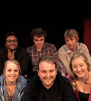 BBC New Comedy Award. Image shows from L to R: Sunil Patel, Hayley Ellis, Liam Pickford, Peter Otway, Tommy Rowson, Steph Peart. Copyright: BBC.