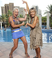 Benidorm. Image shows from L to R: Scary Mary (Denise Welch), Madge (Sheila Reid). Copyright: Tiger Aspect Productions.