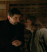 Blackadder. Image shows from L to R: Lord Edmund Blackadder V (Rowan Atkinson), Baldrick (Tony Robinson). Copyright: BBC / Tiger Aspect Productions.