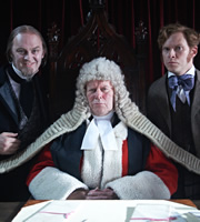 The Bleak Old Shop Of Stuff. Image shows from L to R: Harmswell Grimstone (Tim McInnerny), Judge Harshmore Grimstone (Graeme Garden), Jedrington Secret-Past (Robert Webb). Copyright: BBC.